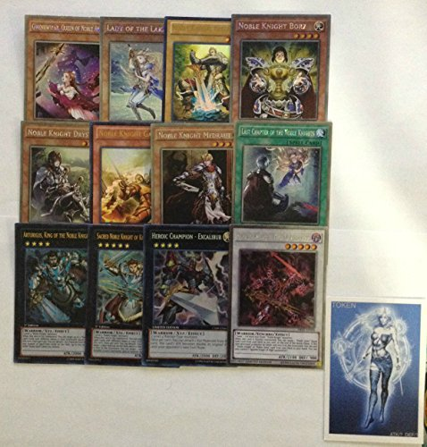 YUGIOH Tournament Ready Noble Knight Deck with Complete Extra Deck and exclusive Phantasm Gaming Token
