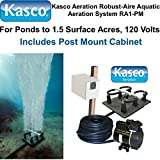Kasco Marine Robust-Aire Aquatic Aeration System RA1PM - For Ponds to 1.5 Surface Acres, 120 Volts, Includes Post Cabinet Mount