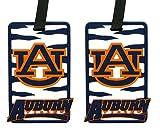 Auburn Tigers - NCAA Soft Luggage Bag Tag - Set of 2