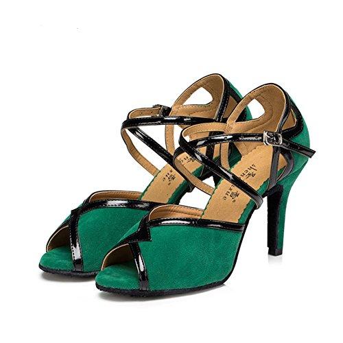 Mujer de Zapatos Longitud del salón Baile Zapatos Fondo 3CM 4Inch Zapatos 21 Baile de de Baile Salsa 8 Blando Tacones A s pie Latino de OfHUnrq5Ow