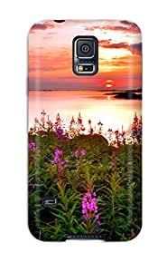 Hot IHUjczP164RNJPl Case Cover Protector For Galaxy S5- Colorful Sunsets
