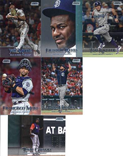 (2019 Topps Stadium Club Baseball San Diego Padres Team Set of 10 Cards: Tony Gwynn(#59), Fernando Tatis Jr.(#88), Wil Myers(#202), Franmil Reyes(#210), Manny Machado(#226), Luis Urias(#239), Francisco Mejia(#269), Eric Hosmer(#283), Ian Kinsler(#289), Hunter Renfroe(#296))