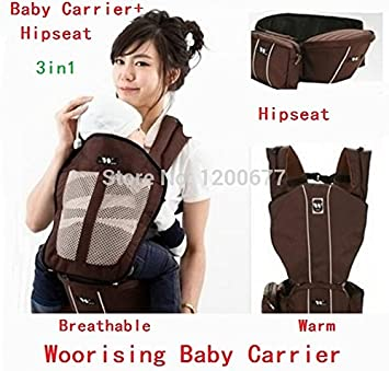 New Hot Sale baby carrier+hipseat 5in1 multi-color Breathable&Warm Kangaroo baby sling/