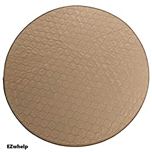 EZwhelp 36″ (Round, Circular Shape) Machine Washable, Reusable Pee Pad/Quilted, Fast Absorbing Dog Whelping Pad/Waterproof Puppy Training Pad/Housebreaking Absorption Pads