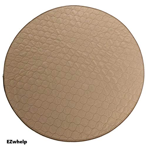 "EZwhelp 36"" (Round, Circular Shape) Machine Washable, Reusable Pee Pad/Quilted, Fast Absorbing Dog Whelping Pad/Waterproof Puppy Training Pad/Housebreaking Absorption Pads from EZwhelp"