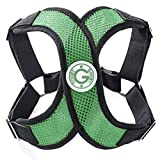 Gooby - X Harness, Small Dog Choke Free Step-in Harness with Synthetic Lambskin Soft Strap, Hunter Green, Small
