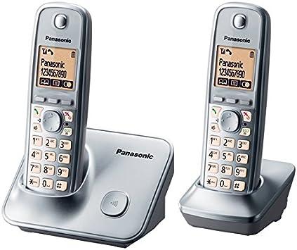 Panasonic KX-TG6612SPM - Teléfono inalámbrico digital Dect Duo: Amazon.es: Electrónica