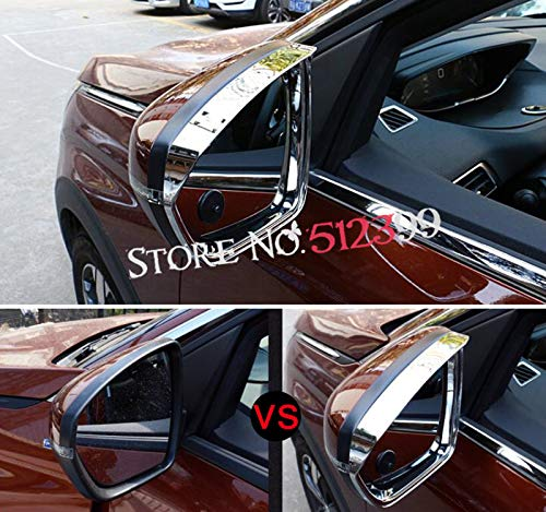 Star-Trade-Inc - 2pcs/set ABS Chromed Rear View Mirror Visor Rain Eyebrows Cover Sun Rain Guard Shield Deflector Sun Visor For Peugeot 5008