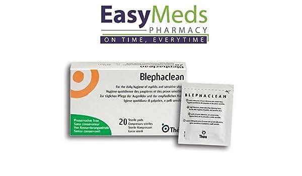 blephaclean estéril toallitas Pads/X20 X3 ojo tapa higiene diaria blefaritis Pres. Libre: Amazon.es: Belleza