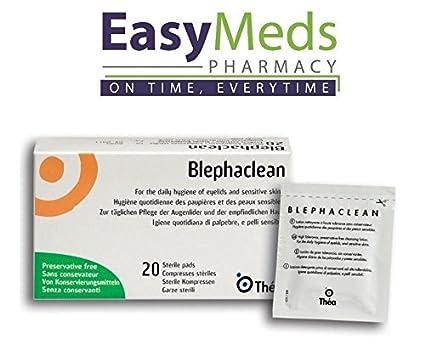 blephaclean estéril toallitas Pads/X20 X3 ojo tapa higiene diaria blefaritis Pres. Libre