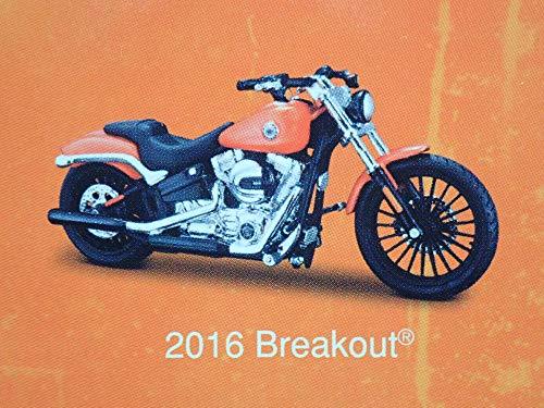 2016 Breakout Harley Davidson Motorcycle Orange MAISTO Series 36 1/18 Model Bike