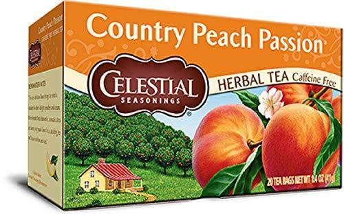 Celestial Seasonings Natural Herb Tea, Country Peach Passion, 20 Tea Bags by Celestial Seasonings -