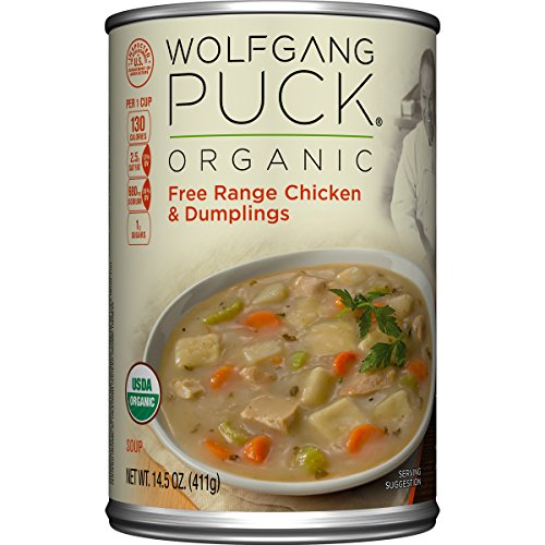 Wolfgang Puck Organic Soup, Free Range Chicken and Dumplings, 14.5 Ounce (Organic Wolfgang Puck Soup)