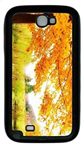 uncommon cases Autumn scenery TPU Black case/cover for samsung galaxy N7100/2