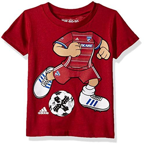 MLS FC Dallas Boys -Dream Job Soccer Player Short sleeve Tee, Dark Red, - Dallas Sports Jobs