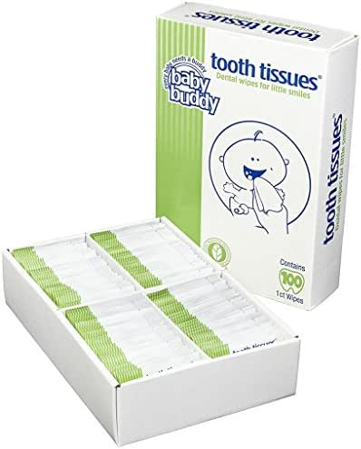Brilliant Tooth Tissues with Xylitol - Bubble Gum Flavor Teeth Wipes for Babies and Toddlers - Kids Love Them, 100 Count