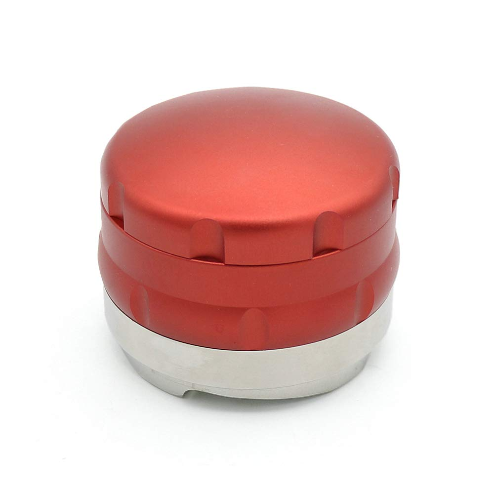 58mm Espresso Powder Distributor with Four-Angled-Slopes Base Coffee Tamper (Red) by MAYAGU