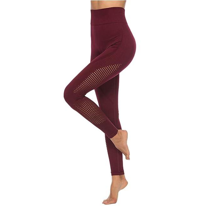 Amazon.com: Botrong - Pantalones de yoga para mujer, con ...
