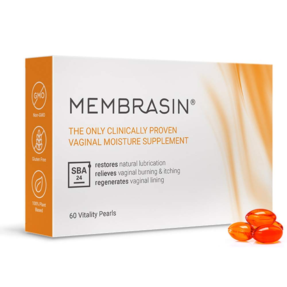 Membrasin® for Vaginal Dryness - 100% Natural Daily Oral Supplement - Clinically Proven to Restore Natural Lubrication and Moisture - Relieves Dry Vagina Burning and Itching for Women and Menopause by Membrasin