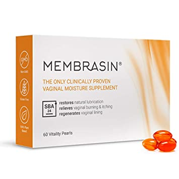 Membrasin® for Vaginal Dryness - 100% Natural Daily Oral Supplement -  Clinically Proven to Restore