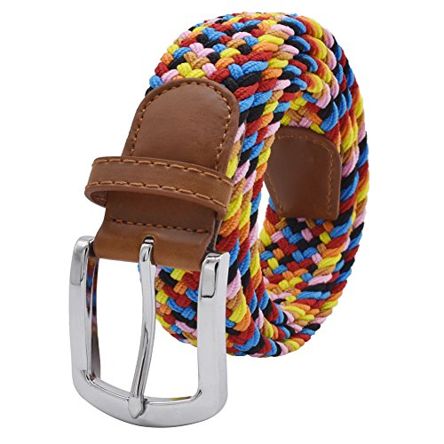 (Stretch Belt, Vonsely Elastic Belts Braided Fabric Belt Colorful Woven Belts for Men and Women,Candy Color)
