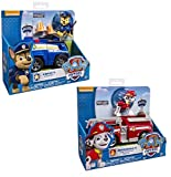 Nickelodeon's Paw Patrol Value Bundle - Chase's Cruiser and Marshall's Fire Fightin Truck