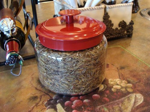 Bineshii's World Famous Ghost Wild Rice 3-lbs. Hand Harvested, Wood Parched, in a 48 0z Glass Jar. Keeps Your Wild Rice Fresh for Years. Comes Packaged in a White Gift Box. No Need to Wrap! by BINESHII