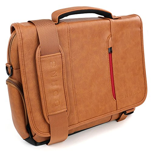 Snugg Leather Laptop Shoulder 15 6 Inch