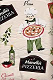 Pizzeria Pictorial Flannel Backed Vinyl Tablecloth (52'' x 90'' Oblong)
