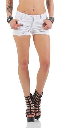 4527 Fashion4Young Knackige Damen Hotpants Shorts kurze Hose Hot Pants  Baumwollhose (XL 42, 5771632d80