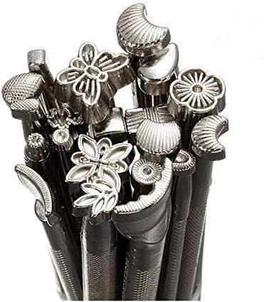 KUNSE 20 Pcs en Cuir Outil dimpression Alliage Sculpture Faire Artisanat Poin/çon Timbres Sculpture Imprim/é Bricolage en M/étal en Cuir de Travail Selle