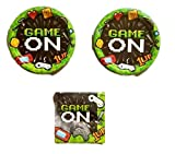 Gaming Party Party Bundle 9'' Plates (16) Napkins (16)
