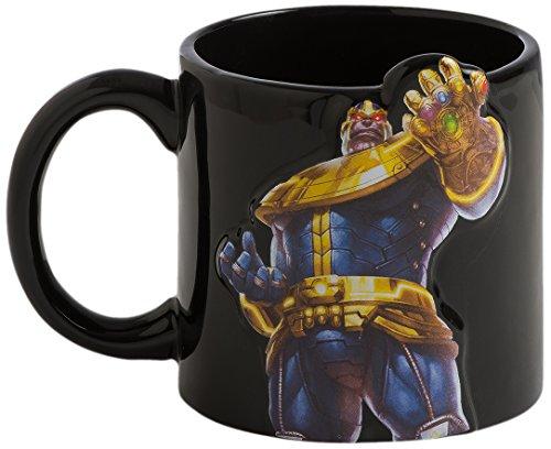(Vandor 26081 Marvel Thamos Sculpted Ceramic Soup Coffee Mug Cup, 3D Bas Relief, 20 Ounce)