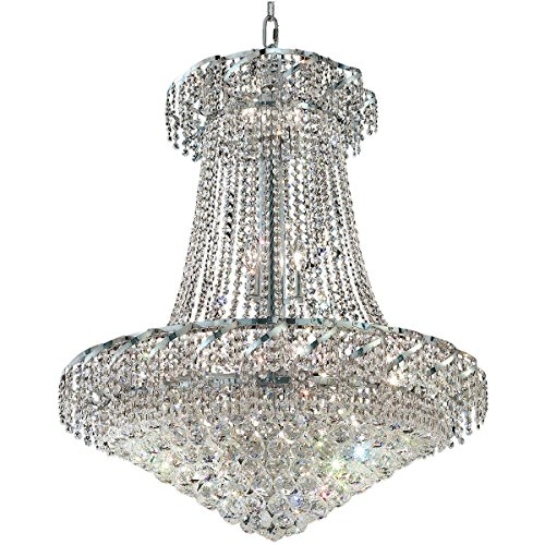 Elegant Lighting ECA1D30C/RC Belenus 18-Light Chandelier, Finish with Crystal (Clear) Royal Cut RC Crystal, 38