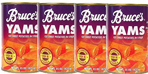Bruce's Yams Sweet Potatoes in Syrup 15oz Cans (4 Pack) by Bruce Foods