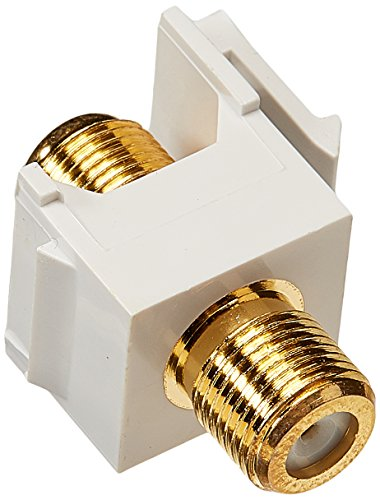 Scp F-connector Snap-in Gold/white