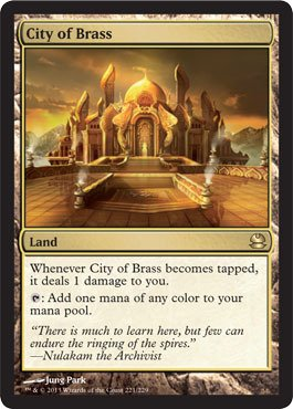 Magic: the Gathering - City of Brass (221/229) - Modern Masters - Foil