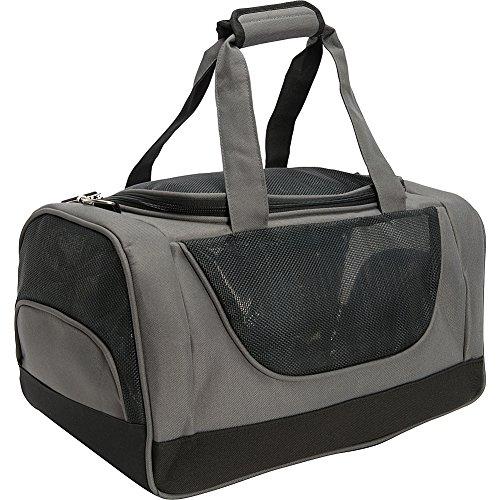 bellino-u-shaped-zipper-opening-pet-carrier-grey