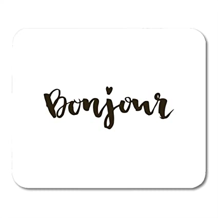 amazon com boszina mouse pads black brush bonjour french word