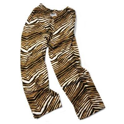 Zubaz New Orleans Saints Team Color Zebra Pants, Black Metallic Gold (Small)