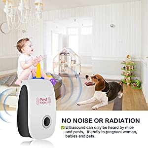VHOME Pest Control Ultrasonic Pest Repeller- Electronic Mouse repellent Plug in Pest Warrior- Bug Repellent for Mice, Rat,Bug,Spider,Roach,Fly,Ant - No More Insect Sprayers&Mouse Trap (6 PACK)