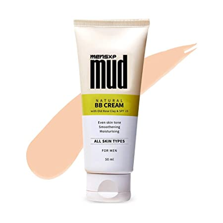 Mensxp Mud Natural BB Cream For Men For Even Skin Tone 50 ml, Skin Shade 027 - Medium Light