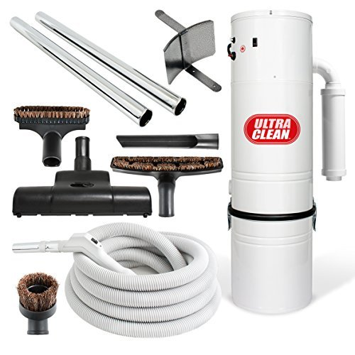 Central Vacuum Ultra Clean Unit 7,500 sq. ft. with Turbo Power Nozzle and 30 foot ON/OFF Control Switch Hose & Set of Wands