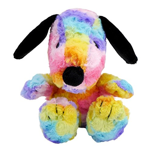 Hallmark Plush Easter Egg Rainbow Snoopy in All-Over Colorful Rainbow Pattern
