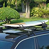 Neolife Soft Roof Rack Pads with Two 15 Ft Wrap-Rax Straps for Surfboard, SUP Paddleboard, Snowboard, Kayak, 28inch