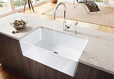Perfect Blanco Cerana 30u0026quot; Single Bowl Apron Front Kitchen Sink 441694