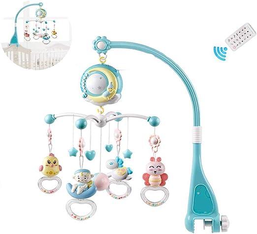 Pywee Mini Cuna móvil Musical Tudou Baby con música y Luces ...