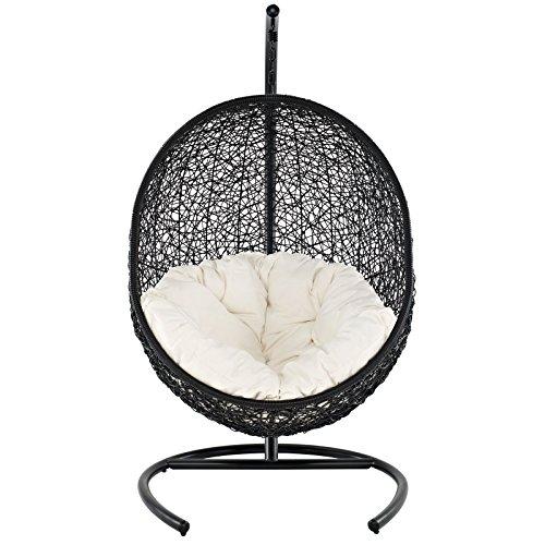 Patio Resin Outdoor Garden Yard Wicker Side Chair. Black Color Set of 4