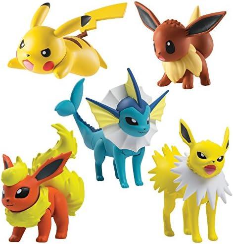 TOMY Games- Pokémon Multi Figura Pack, Flareon, Jolteon, Vaporeon ...