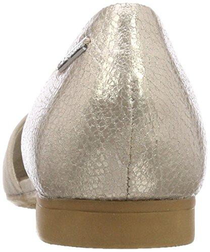 Bugatti Dame 411436603419 Slingback Ballerinaer Brun (taupe / Metallisk) HJCDFtOimQ